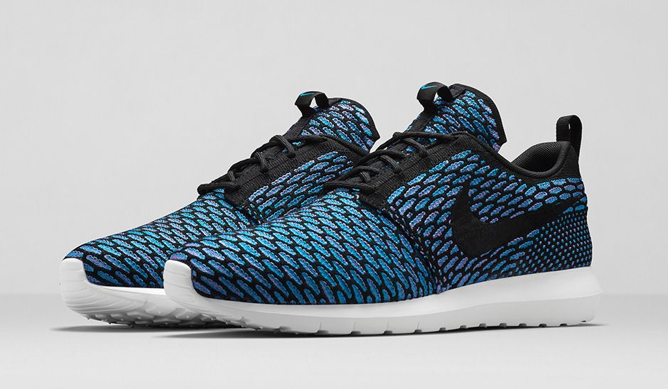 Image of nike flyknit roshe run nm turquoise amp black pictures to pin