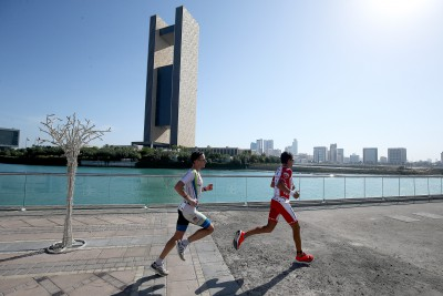 BAHRAIN, BAHRAIN - NOVEMBER 25:  xxxx of Spain competes in the bike section of the Ironman 70.3 Middle East Championship Bahrain on November 25, 2017 in Bahrain, Bahrain. (Photo by Nigel Roddis/Getty Images for IRONMAN)